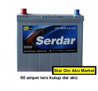 Serdar Akü Fiyatları - 60 Amper Serdar Akü - Dar Akü -Ters Kutup